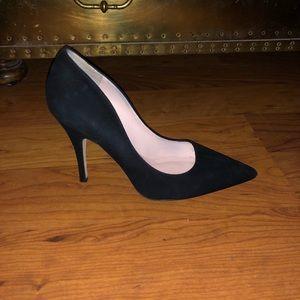 Kate Spade black suede heels 8.5